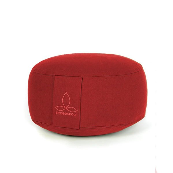 kleines Bodenkissen und Sitzkissen in der Farbe rot
