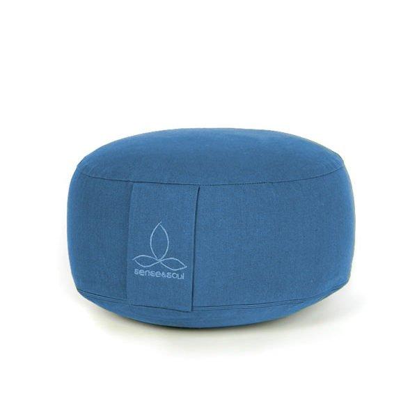 kleines Bodenkissen und Sitzkissen in der Farbe blau