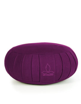ökologisches Yogakissen Zafu in lila