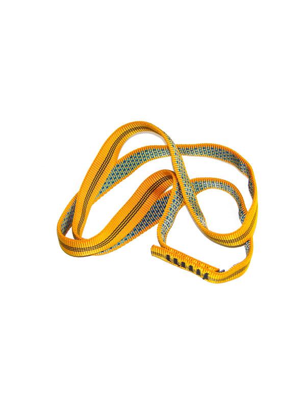 Eine gelbe Bandschlinge in der Länge 60cm