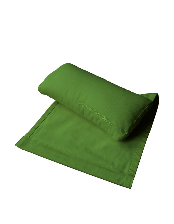 Das Nackenkissen für den Traumschwinger in der Farbe grün