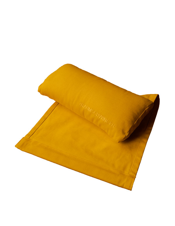 Das Nackenkissen für den Traumschwinger in der Farbe gelb