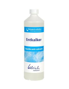 eine Flasche Entkalker zum ökologischen entkalken