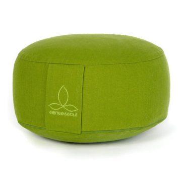 ökologisches Pouf in der Farbe grün