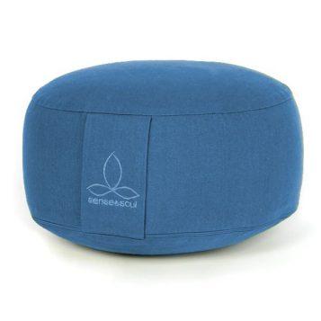 ökologisches Pouf in der Farbe blau