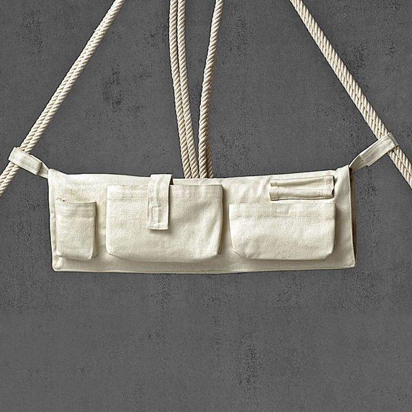 Kleine Seitentasche zum Verstauen der Seile