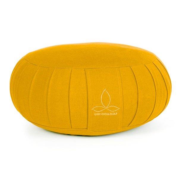 ökologisches Yogakissen Zafu in gelb