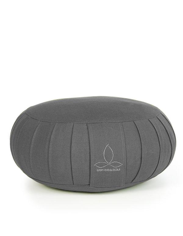 ökologisches Yogakissen Zafu in grau