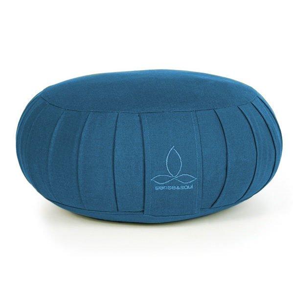 ökologisches Yogakissen Zafu in blau