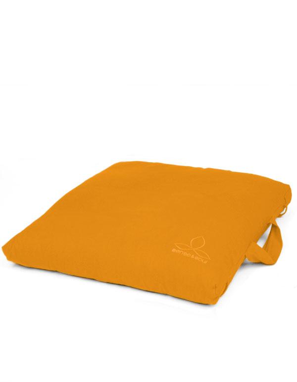 ökologisches Meditationskissen orange