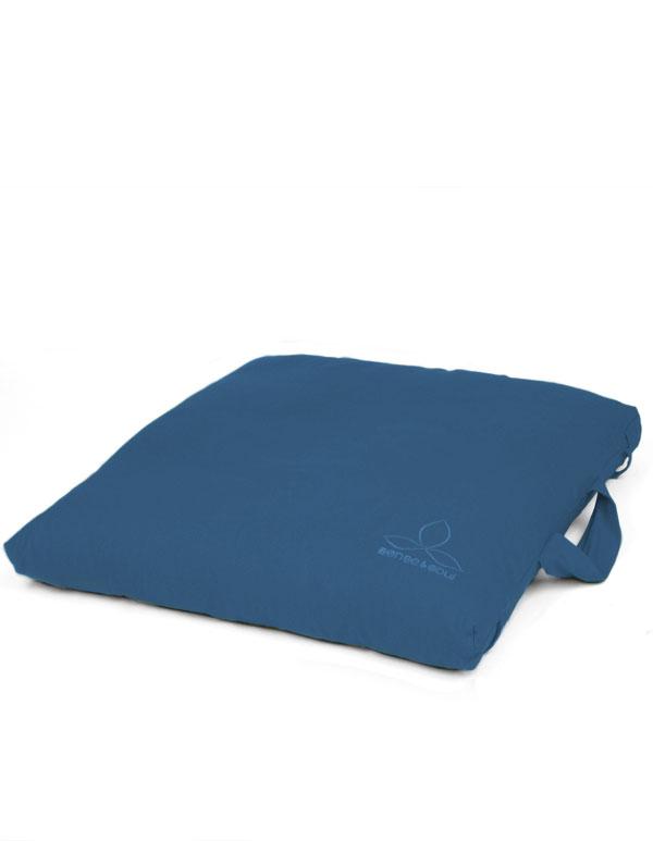ökologisches Meditationskissen blau