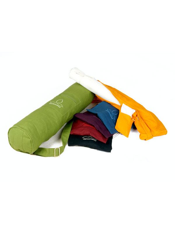 Eine Yogatasche in 6 Akzentfarben