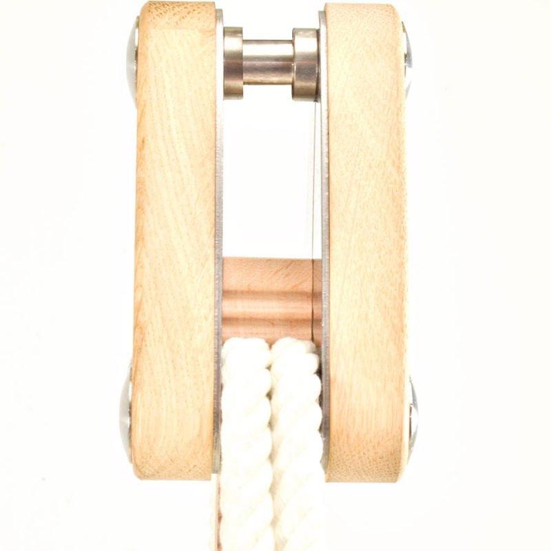 Eine Höhenverstellung für Hängesessel in der Seitenansicht