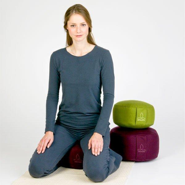 Yogakissen aus biologischer Baumwolle