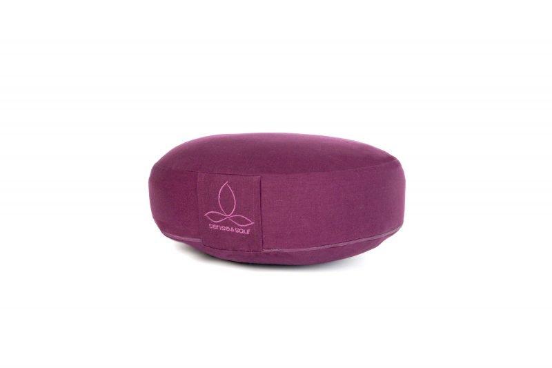 flaches Boden Sitzkissen in lila