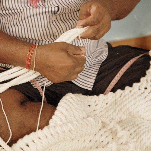 Traumschwinger Hängesessel sind von Hand gemacht