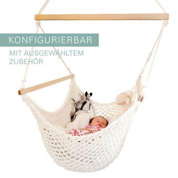 Babyhaengematte mit Zubehör konfigurierbar